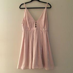 Pink strapless free people formal mini dress